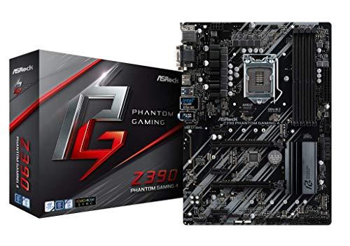 ASRock Z390 Phantom Gaming 4 Mainboard, AMD Quad CrossFireX und CrossFireX, ATX Motherboard, saphirschwarz -