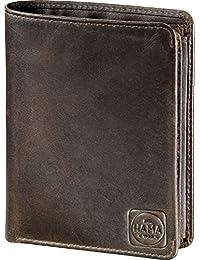 Hama est. 1923 h1 paris portefeuille en cuir marron foncé