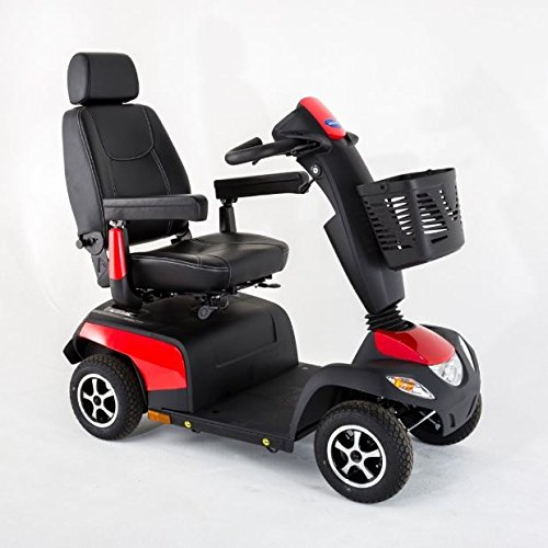 Elektromobil Invacare Orion Metro-6, 4-Rad-E-Mobil, 6 km/h, Rot, Seniorenmobil perfekt für Einsteiger inkl. Anlieferung/Einweisung/Aufbau vor Ort