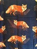 Blau mit Füchse Mode Schal langen weichen Wrap / Sarong (Blue fox fashion scarf long soft wrap/sarong)