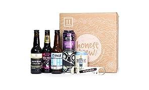 HonestBrew Sampler - 6 Craft Beers & Bar Blade Bottle Opener