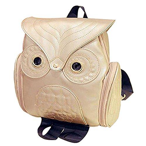 Borse a zainetto Donna, zaino a forma di gufo Lanchengjieneng, borsa da spalla per zainetto Oro