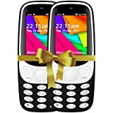 I KALL 2.4 Inch Display Dual Sim Mobile Combo -K35 (Black & Black)