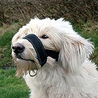 LA VIE Bozal de Nylon Mascotas Perros Anti-ladridos Anti-mordedura Ajustable Bozal de Entrenamiento Seguridad Cómodo para Perros Pequeños y Medianos en Negro XXL