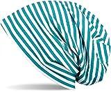 styleBREAKER Beanie Mütze mit Streifen, Longbeanie gestreift, Unisex 04024048, Farbe:Petrol