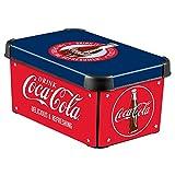 Curver 04710-C12-49 Aufbewahrungsbox Deco's Stockholm S Coca Cola Design, 5,5 L, im