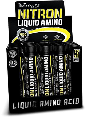 Liquid Amino Shots (Nitron Ampulle) Orange 20 * 25ml - Aminosäuren in flüssiger Form - BiotechUSA