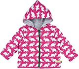 loud + proud Unisex Baby Regenmantel Wasserabweisende Jacke, Violett (Berry Ber), 80 (Herstellergröße: 74/80)