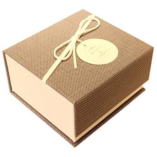 Einfache Schmuckschatulle Clamshell Design Hartpappe Material Parfüm Lippenstift Kosmetik Kleine Geschenkbox Brown