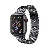 Amlaiworld_ Correas de Reloj Apple Watch Serie 4 44mm Correa de Bucle de Reloj de Acero Inoxidable de Repuesto Pulseras de Repuesto Wristband