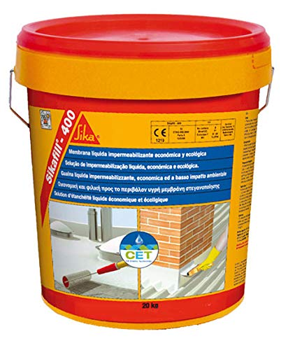 SikaFill 400, Membrana líquida impermeabilizante para cubiertas, 20kg, Rojo