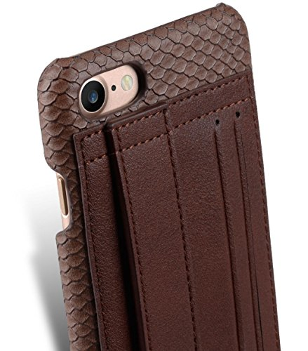 Apple Iphone 7 Melkco Elite-Serie Premium Leder-Snap zurück Tasche Tasche mit Premium-Leder Handgefertigte gute Schutz, Premium Feel-Tan Schokolade