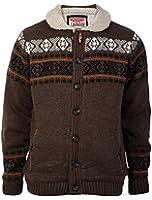 Tokyo Laundry Mens Winnipeg Sherpa Lined Knitted Long Sleeve Jacket