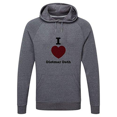 The Grand Coaster Company I Love Dietmar Dath Lightweight Hooded Sweatshirt