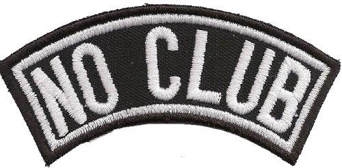 Motorrad-club Patches (Biker Kutten Front Tab, NO CLUB, Motorrad Rocker Patch Aufnäher Abzeichen)