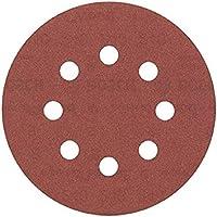 Bosch 2 608 605 645 - Pack de 5 hojas de lija (125 mm, 240)