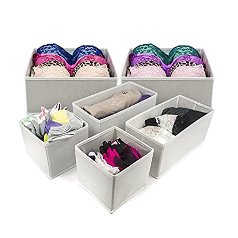 Sorbus Foldable Storage Drawer Closet Dresser Organizer Bins for Underwear,