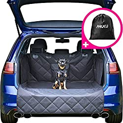 AHUKU 4-Layer Car Boot Liner Protector for Dogs with Bumper Flap - Heavy Duty Waterproof Anti-Slip Car Boot Cover
