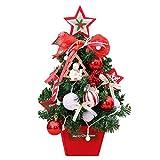 1 Stück Weihnachtsbaum + Lichterkette Christbaumschmuck Mini Tree 45Cm LED Künstliche Glühende Mall Hotel Weihnachtsschmuck Dekoration Paket Tischplatte Festival Miniatur Baum