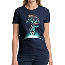Olyfant Space Grind - Womens Cotton T-Shirt (American Sizes)