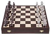 Square - Echecs en Bois - MÉDIÉVALE - Silver Edition - Pièces d'échecs & Échiquier - Wenge