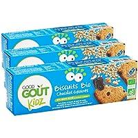 Good Goût - BIO - Kidz Biscuits Chocolat Sésame Tournesol dès 3 Ans 110 g - Lot de 3