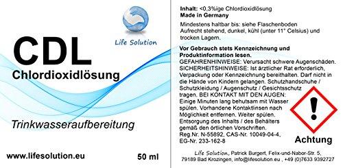 Life Solution CDL / CDS Trinkwasserdesinfektion – 50 ml - 2