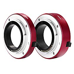 Neewer® All-metal Auto-focus Macro Extension Tube Set 10mm&16mm For Sony E-mount Mirrorless Camera Nex 33n55n5ra6000a6300 & Full Frame A7 A7sa7sii A7ra7rii A7ii Red