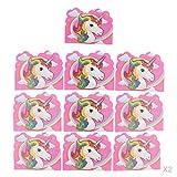MagiDeal 20x Rosa Einhorn Grußkarten Einladungskarten Geschenkkarten für Kindergeburtstag Babyparty und Taufe