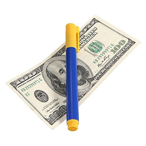 GEZICHTA Geld Tester Pen, Fake geschmiedet Währung Geld Bill Bank Note Checker Detektor Tester, Blau, Free Size