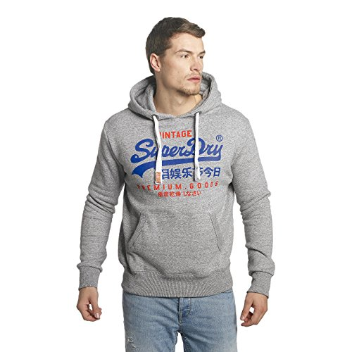 """Superdry Herren Sweatshirt """"Premium Goods Duo"""" Grau"""