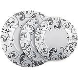 Servicio de platos 18piezas Juego para 6personas la Luminarc Jazzy Grey con decoro flores gris cristal Arcopal