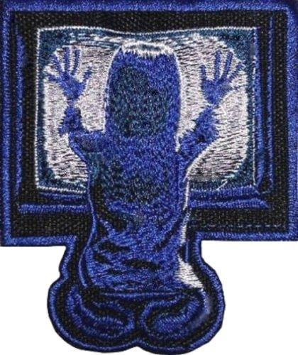 Kostüm Hellraiser Diy (Poltergeist Logo Patch (9cm) DIY Nähen oder Bügeln bestickt auf Badge Aufnäher Horror Film Souvenir TV Portal Carol Anne Kostüm)