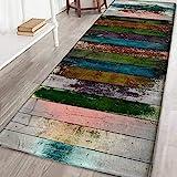 Bornbayb 3D Tappetini e tappetini da Bagno Colorati, Tessuto Flanella Tappeto da Bagno Antiscivolo Tappeto da Bagno Tappeto Decorativo Tappeto Lavabile per Aree da Gioco 60x180cm