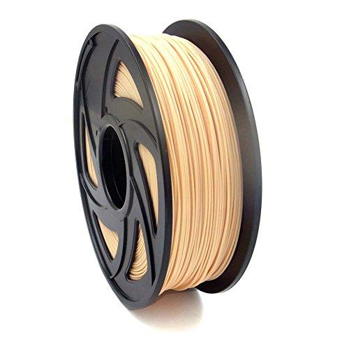 SIENOC 1 Packung 3D Drucker PLA 1.75mm Printer Filament - Mit Spule 1kg (Hautfarbe)