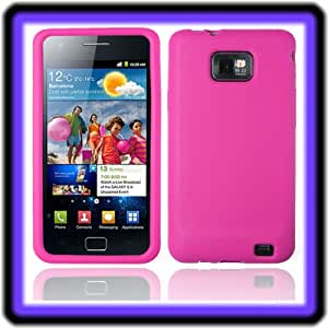 electronic-tunes Samsung Galaxy S2 SII i9100 Silikon Tasche Hülle Case Schale Cover rosa pink