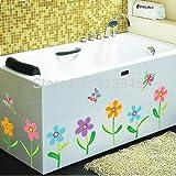 Diy Wandaufkleber Home Decor Bunte Kleine Blumen Schmetterling Glasfliese Baseboard Wand Haus Dekoration
