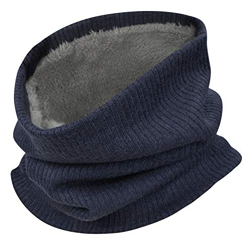 Heekpek - scaldacollo unisex invernale, doppio strato, foderato in pile, sciarpa per sci e moto, attività all'aria aperta marina militare 21 * 48 cm
