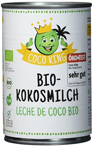 """Preisvergleich Produktbild Coco King Bio-Kokosmilch - 6 Dosen - 400 ml - Öko-Test""""sehr gut"""""""