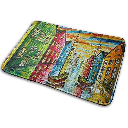 Nice-Guy Venedig in Farbe Badematte absorbiert Schlamm Haustürmatte Badezimmer Teppiche Teppich für Innen Außen 15,7x23,5 Zoll