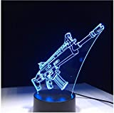Nachtlicht NachttischLampee Scar Gun Gift 7 Colors Touch Table Desk Light 3D Led Lava Lampe Acrylic Illusion Room Atmosphere Lighting