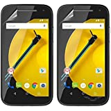 Vulkan Ultra Clear Hd Screen Guard Protector For Motorola Moto E (2Nd Gen) (Double Quantity)