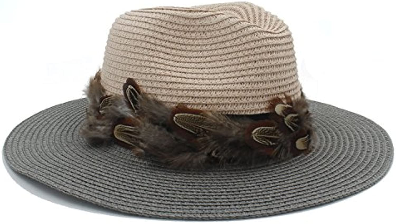 CFHJN Home Moda Donna Cappello da Sole Estate Toquilla Cappello Cappello  Toquilla in Paglia di Paglia 9b987e380eaf