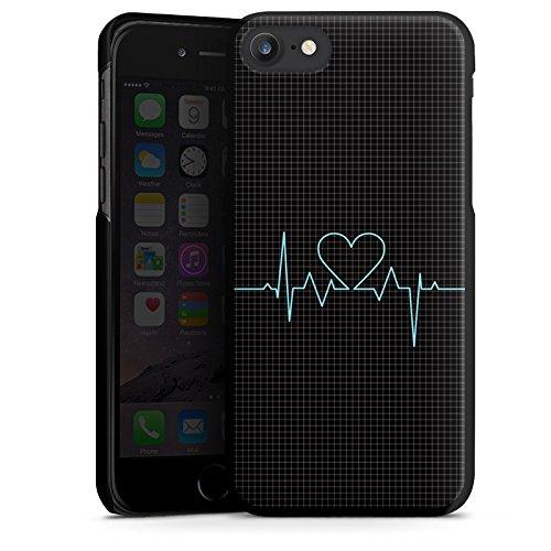 Apple iPhone X Silikon Hülle Case Schutzhülle Herz Liebe Herzschlag Hard Case schwarz