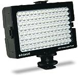 Polaroid 112 LED Videolicht-Panel mit einstellbarem Dimmer und Flügeltor - für universelle Videokameras und Camcorder