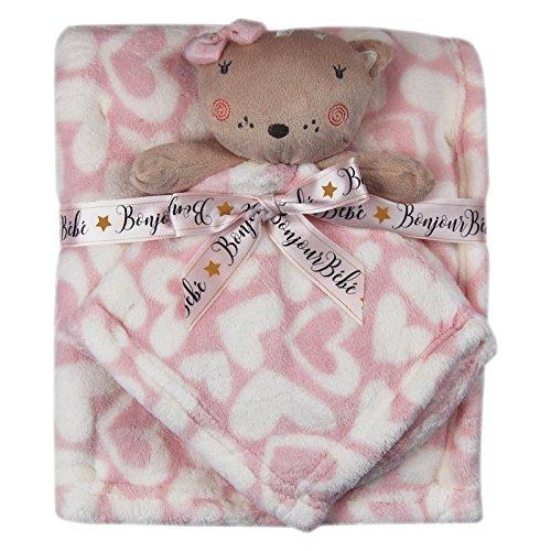 Neugeborene Baby Geschenke Warm Decken Sets für Mädchen Jungen Unisex Winter Baumwolle Fleece Animal Tröster Weihnachten
