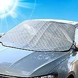 Housse de pare-brise, épaisse en aluminium film de protection magnétique pour pare-brise–Snow Ice Frost Sun UV poussière résistants à l'eau–parfaite pour voitures SUV tous les ans d'été/hiver, L 157*126cm