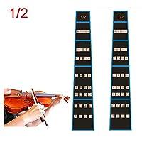 Alaman Violin Finger Guide /Fingerboard Sticker For Size 4/4,3/4 ,1/2,1/4,1/8 2 Pcs (1/2)