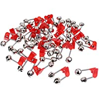 Baoblaze 30pcs Nacht Angelrute Clamp Tipp Clip Ring Fischk/öder Twin Dual Bells
