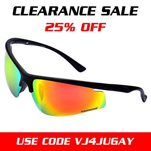 KastKing® Pioneer Polarized Sport Sunglasses Revo Lenses TR90 Frame UV Protection - FeatherLite Only .6oz (Rose Mirror)